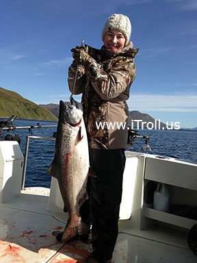 Salmon fishing with iTroll!
